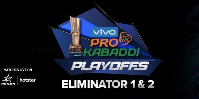 Pro Kabaddi 2019 Playoffs Schedule