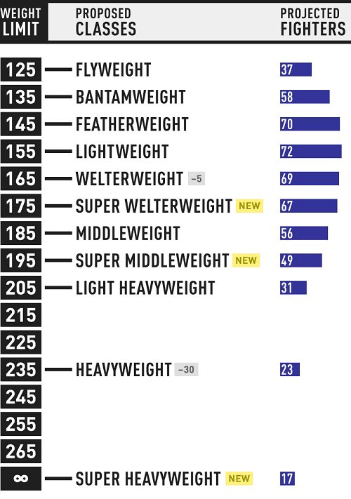 MMA Weight Classes